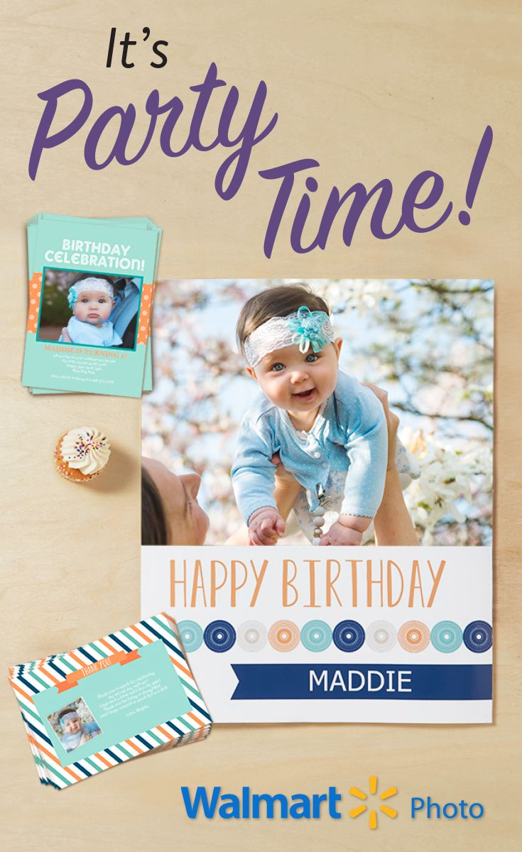 Stylish Photo Invitations and Thank You  Cards. Add a personal touch to your Birthday  Celebration.  All at Everyday Low Prices.