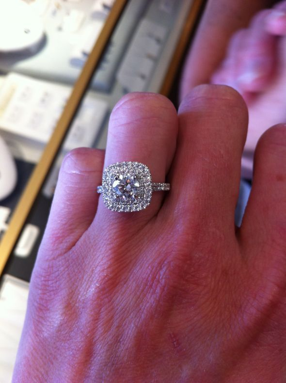 Show me you Round diamonds in a cushion halo Weddings Pinterest