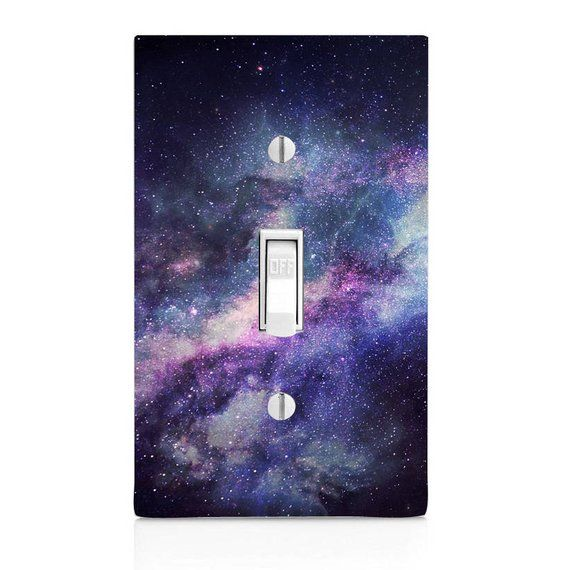 Space Galaxy Motif Home Decor Light Switch Sticker Cover