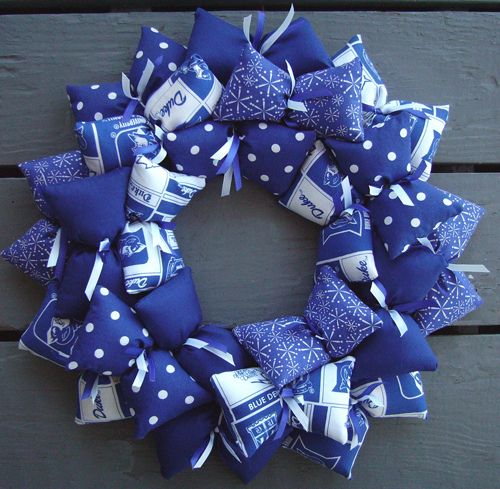 Like how this wreath is made. Not the team. Duke University Wreath -