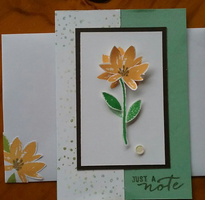 Avant garden stamp set  Stampin'Up!   - first attempt at card making.