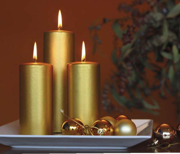 Velas doradas metalizadas