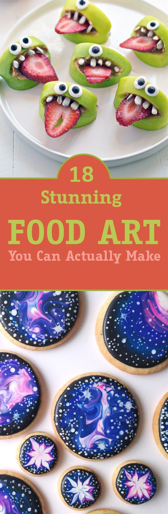 Food art always catches our eyes but it looks almost impossible to make if you're not a professional. Well that's not true you can still make food art even if you don't know anything about it. Here are some easy and beautiful food art you can actually make.