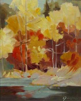 Thick, autumn trees