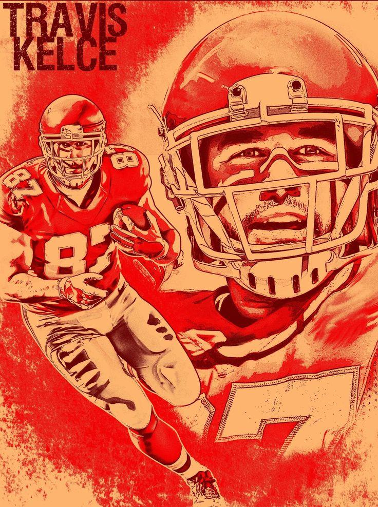 Kansas City Chiefs Travis Kelce Chiefs Kingdom 24x18 Football Poster