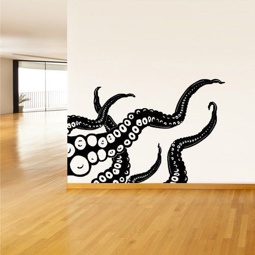 Wall-Decal-Vinyl-Sticker-Decals-Octopus-Sprut-Poulpe-Delfish-tentacles-z1408