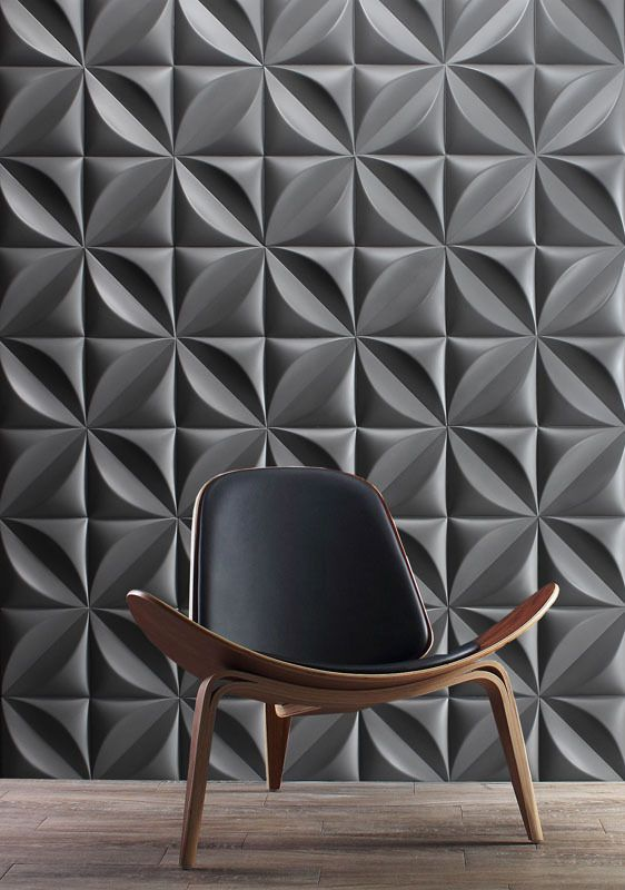 25 creative 3d wall tile designs to help you get some texture on your walls - Designs For Pictures On A Wall
