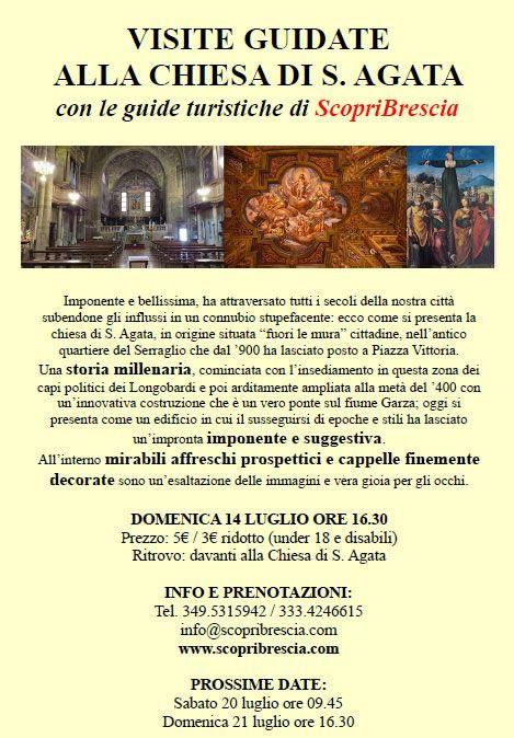 Visite Guidate alla Chiesa di S. Agata a Brescia http://www.panesalamina.com/2013/14090-visite-guidate-alla-chiesa-di-s-agata-di-brescia.html