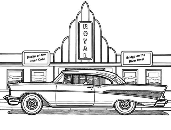 coloring pages cars antiques | Pin on Black & White