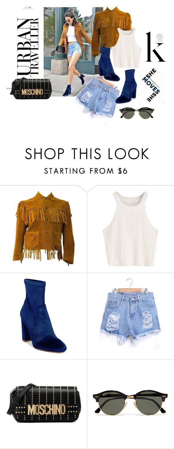 """Kendall K Urban"" by iris234 on Polyvore featuring Steve Madden, Moschino and Ray-Ban"