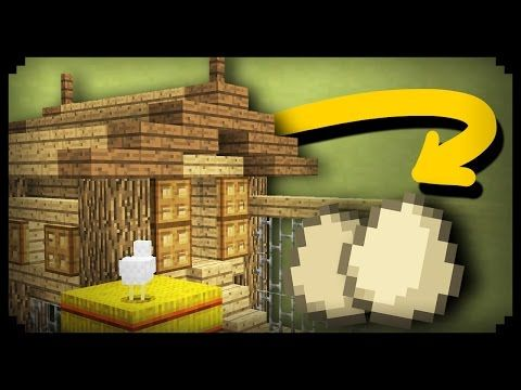 ✔ Minecraft: How to make a Working Chicken Coop - YouTube