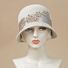 8354MEV Minnie, alabaster – Louise Green Millinery