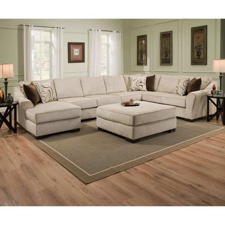 $1,729.97 Simmons Kingley Right Facing Sofa Sectional with Chaise - Generously scaled and blissfully neutral, this Simmons Kingsley Right Facing Sofa Sectional with Chaise ensures there's room for everyone and...