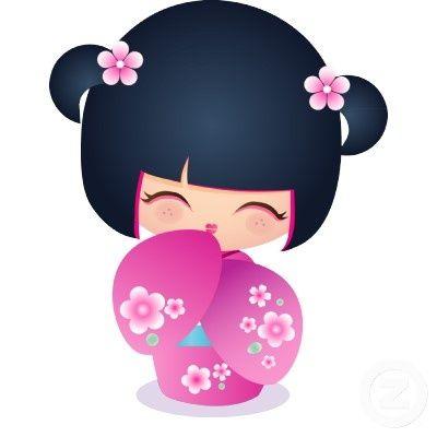 Demure Kokeshi Doll.