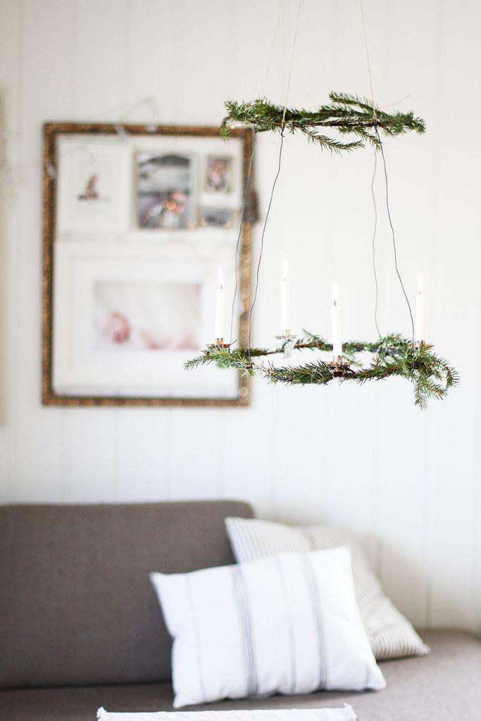 jul // christmas chandelier // via an-magritt