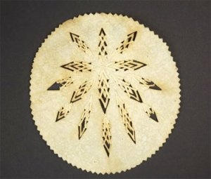 It wouldn't be Christmas without the traditional Icelandic 'Leaf-bread' (also called 'Snowflake bread')