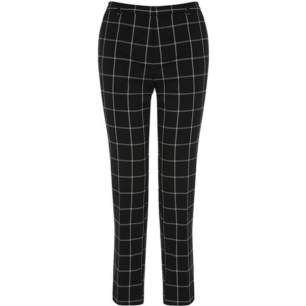 OASIS Check Trouser (£12) ❤ liked on Polyvore featuring pants, multi, checked trousers, slouch pants, slouch trousers, saggy pants and slouchy pants