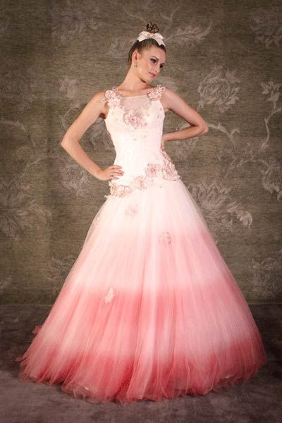 22 best images about ombre dresses on pinterest for Pink ombre wedding dress