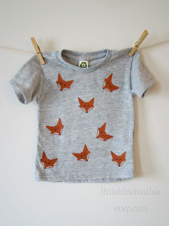 Feeling Foxy? This Tee is a one-of-a-kind shirt that will have all the neighborhood kids (and moms...) wondering who that little boy, or girl,