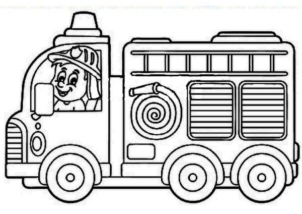 Coloriage - Camion de pompier