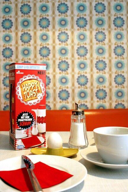 Mister Quick Markt - Frühstück mit Happy Toast #supermarket #vintage #60s #breakfast #art #popart #toast