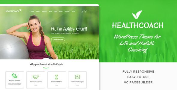 Build a responsive Health Coach, Life Coach Website with WooCommerce/WordPress integration, modern design, 1 click demo import, Drag & Drop Builder & 6 months support included*    Are you a part of...