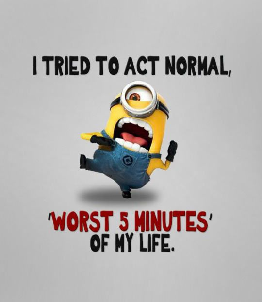 Are you trying to act normal? #despicableme #minions