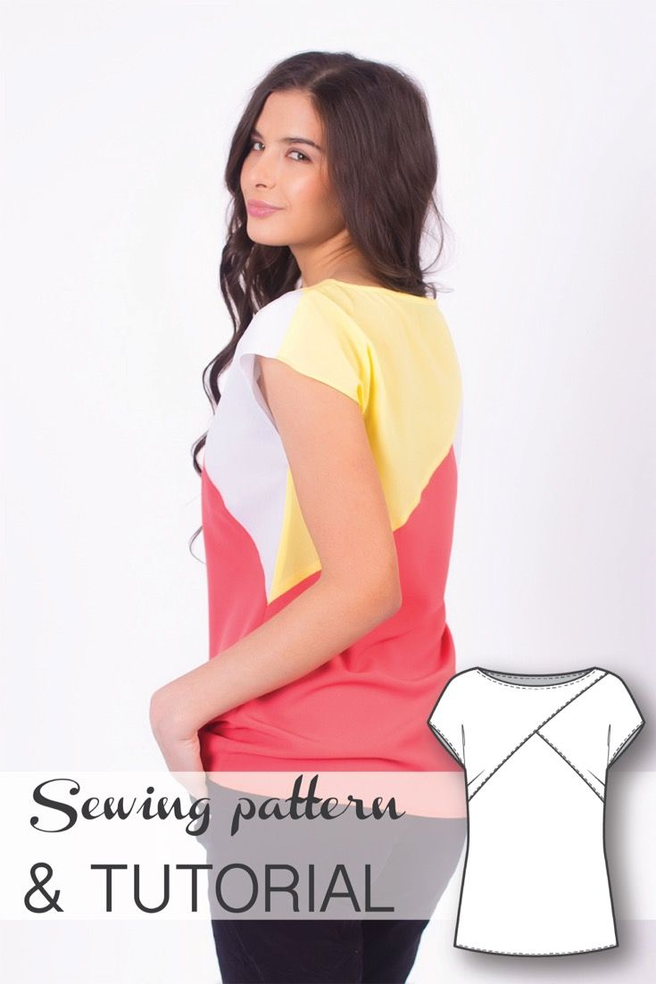 Color Blocked Top Sewing Pattern and Sewing Tutorial