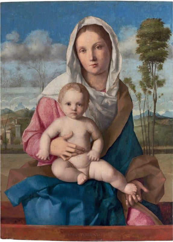 Giovanni Bellini (Italian, Venetian, ca. 1431/6, active by 1459, died 1516):  Madonna con Bambino