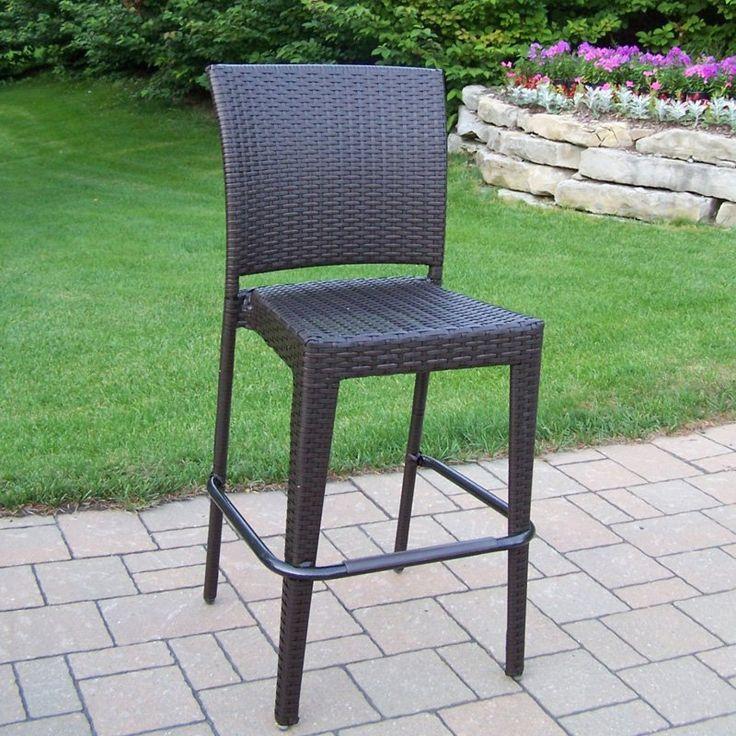 oakland living elite allweather wicker bar stool 90054bccf
