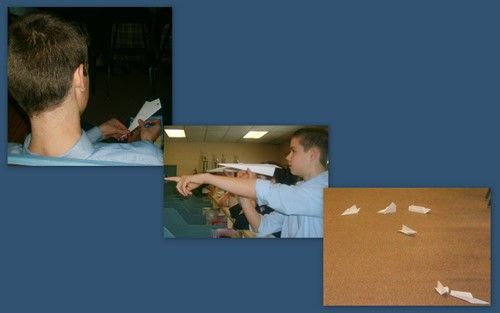 Paper airplane science experiments