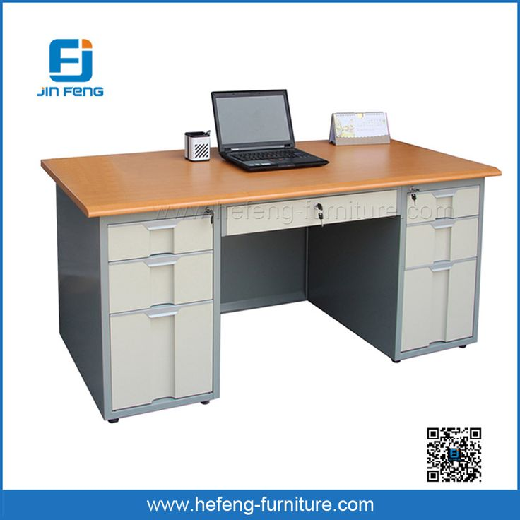 2017 Jin Feng Modern Metal Desk With Drawers For Sale
