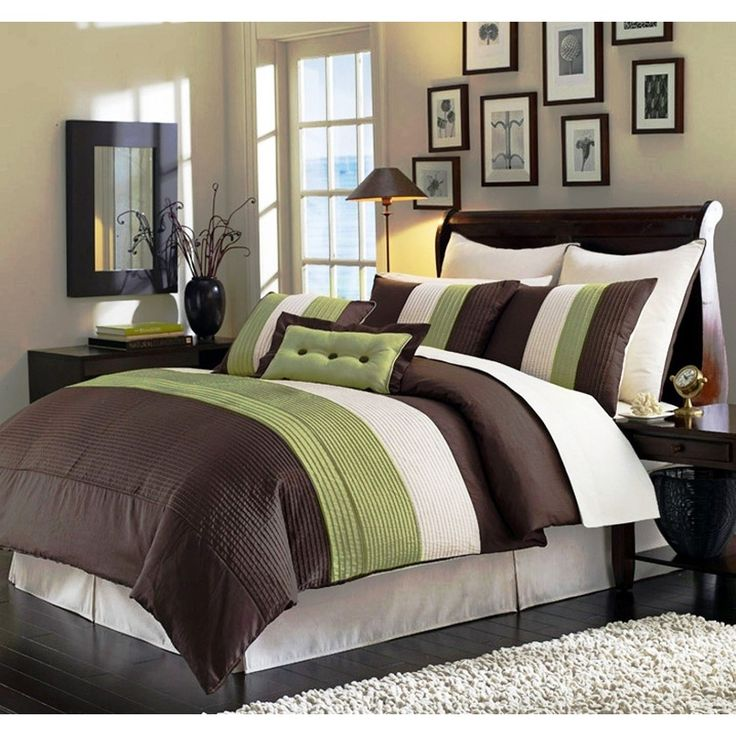 This Comforter Set Is A Unique Combination Of Color And Texture.
