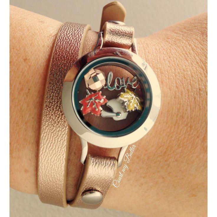 Rosegold wrap bracelet from Origami Owl #rosegold #leatherwrap #Fall2014 fb.com/craftmystory