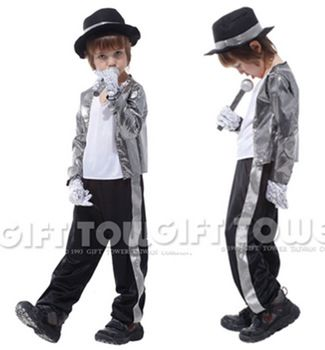 М ~ xl! новый хэллоуин косплей майк принц этап MJ мальчик карнавальный костюм ну вечеринку двойного действия майкла джексона, детская подарок