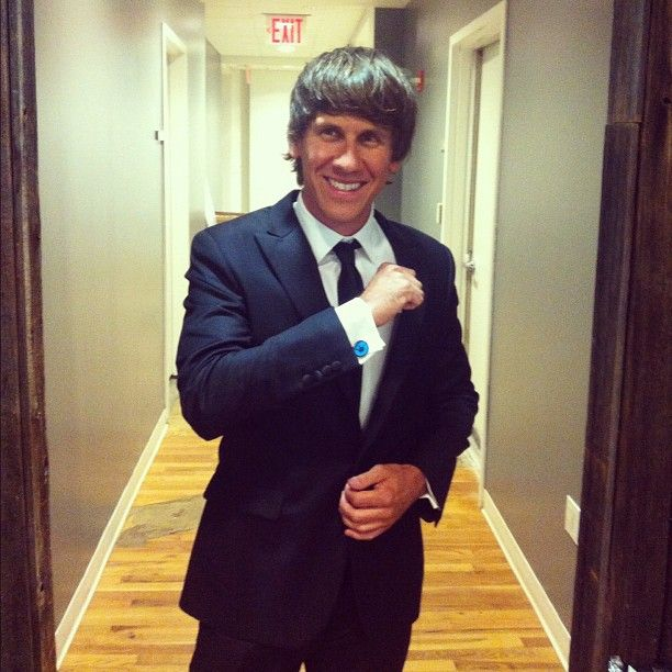 Social media cufflinks in the shape of Foursquare Mayor badges. As worn by founder @Dennis Crowley