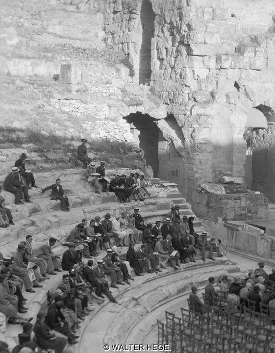 """Ωδείο Ηρώδου Αττικού 1928-1935 Φωτογράφος Walter Hege Αρχείο Bildarchiv Foto Marburg. (Liza""""s Photographic Archive of Greece)"""