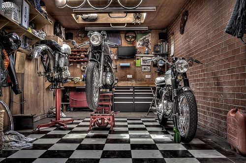 Sh*t Getting Done http://goodhal.blogspot.com/2013/03/garage-014.html #Garage #Motorcycle #Motorcycles