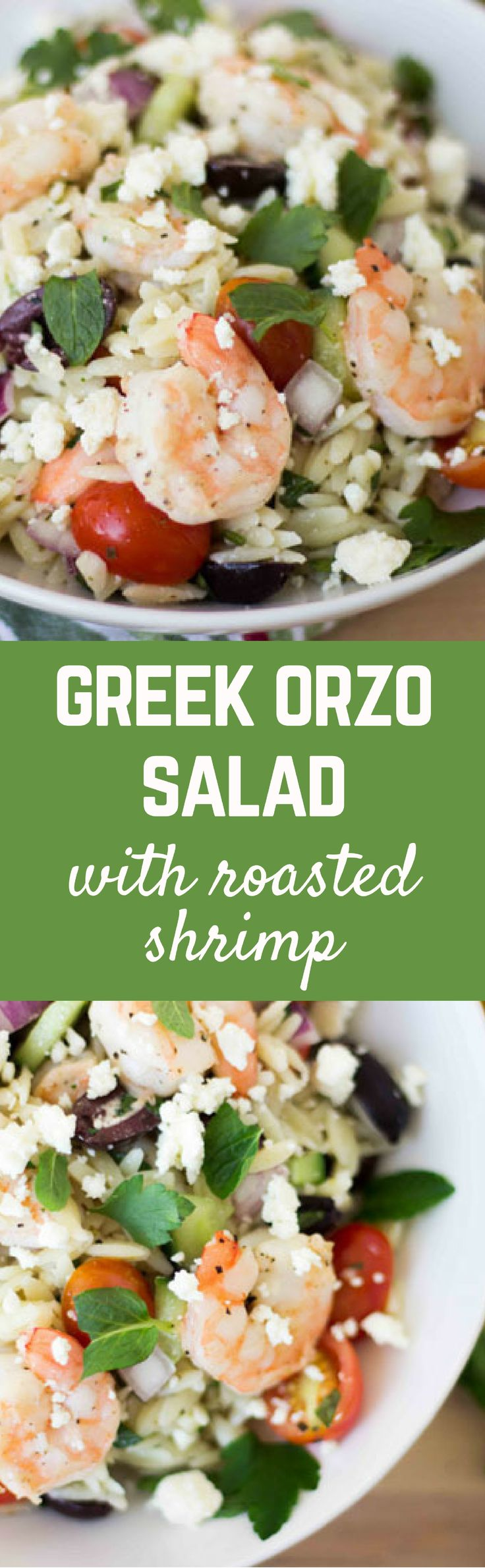This flavorful Greek orzo salad will satisfy you with the Greek flavors you love including mint, lemon and parsley, tossed with orzo, it won't require fat-pants! Get the recipe on RachelCooks.com!