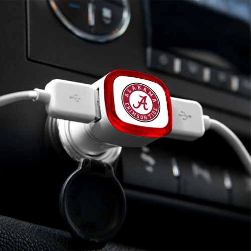 Alabama Crimson Tide USB Car Charger
