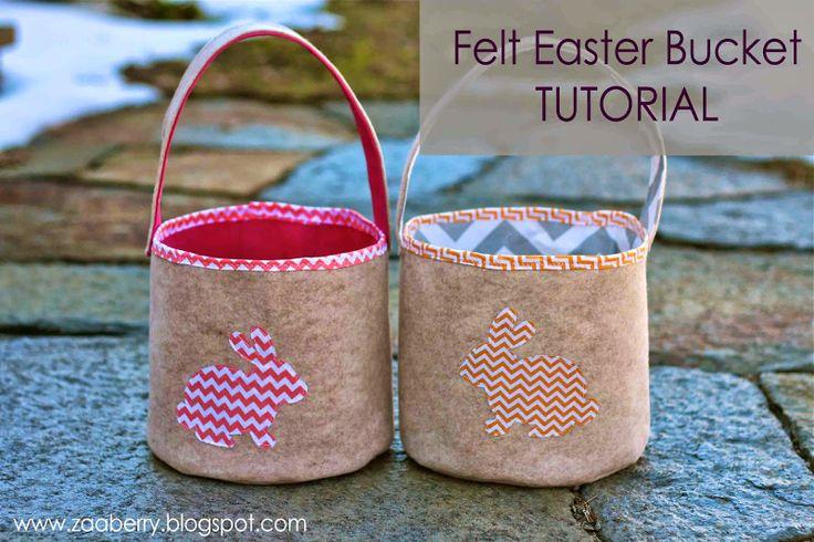 Zaaberry: Felt Easter Bucket-TUTORIAL