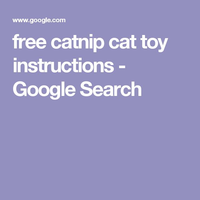 free catnip cat toy instructions - Google Search