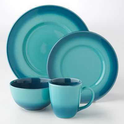 Everything Turquoise Ombre Blue Dinnerware Set : turquoise dishes dinnerware - pezcame.com