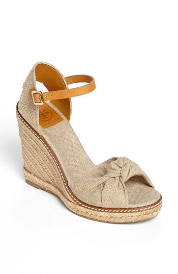 Tory Burch 'Macy' Leather Wedge Espadrille Sandal (Nordstrom Exclusive) available at #Nordstrom