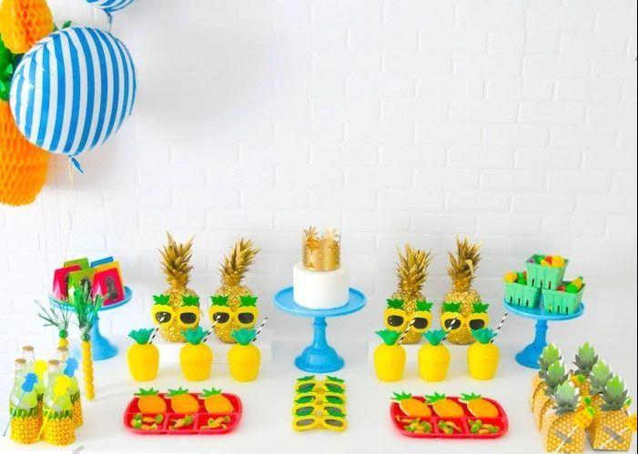 fiestas de cumpleaos infantiles con un toque muy diferente en este caso utilizamos pias para