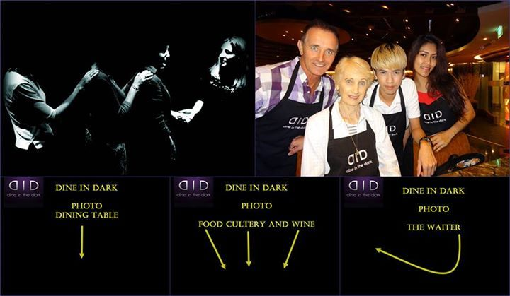DID Dine in Dark Dining adventure like never before, 5 star venue so be scared in comfort .. lol