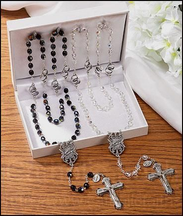 Wedding Rosaries Set for the Bride and Groom!