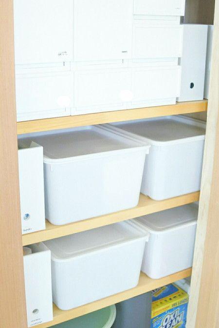 サニタリーのすっきり収納術★トイレも洗面所もグンと使いやすく ... サニタリー収納にニトリの「ロビン」