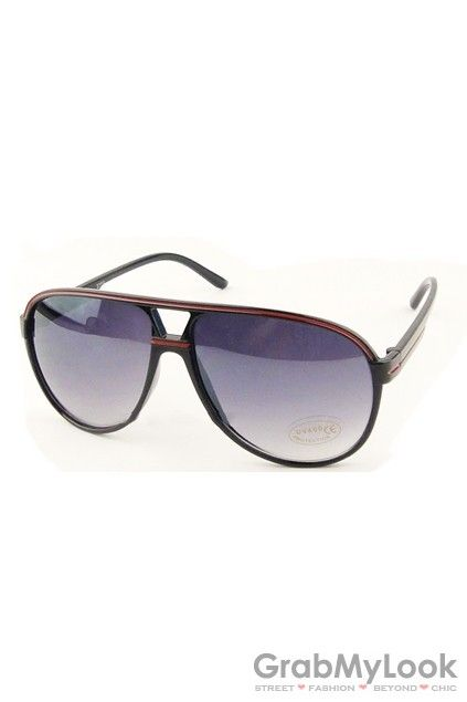 GrabMyLook Flats Brow Aviator Pilot Googles Sunglasses Eyewear