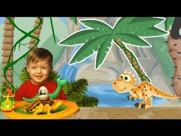 Детям про Динозавров СПАСАЕМ ТИРЕКСА #2 Мультик Яйца с Динозаврами Видео для Детей  Lion boy http://video-kid.com/21426-detjam-pro-dinozavrov-spasaem-tireksa-2-multik-jaica-s-dinozavrami-video-dlja-detei-lion-boy.html  Детям про динозавров. Спасаем Тирекса #2. Мультик. Яйца с динозаврами. Видео для Детей. Сегодня на канале Lion boy, продолжение истории про спасение маленького динозаврика. В этой части нужно справиться с противной подземной кусучкой, и провести тирексика к маме.В предыдущей…